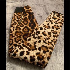 Animal Print Soft Leggings Fleece Lined Size S/M